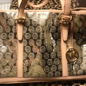 Authentic Michael Kors Gold Metallic Carry All